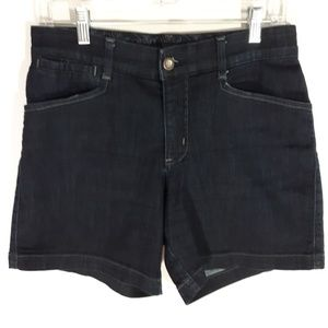 Lee Comfort dark wash denim shorts.  Size 6